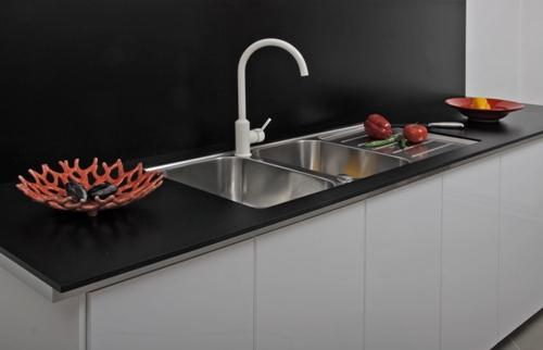 Desk-Form - Kompakt laminat svart
